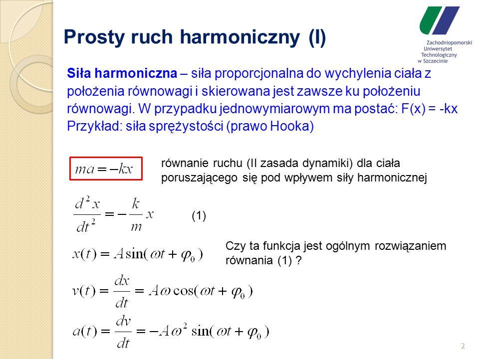 Prosty ruch harmoniczny (I)