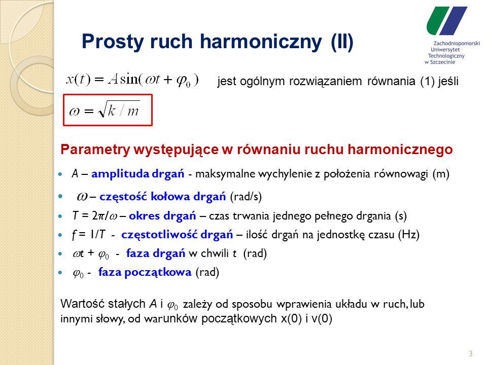 Prosty ruch harmoniczny (II)