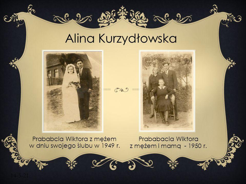 Prababcia Wiktora z mężem w dniu swojego ślubu w 1949 r.