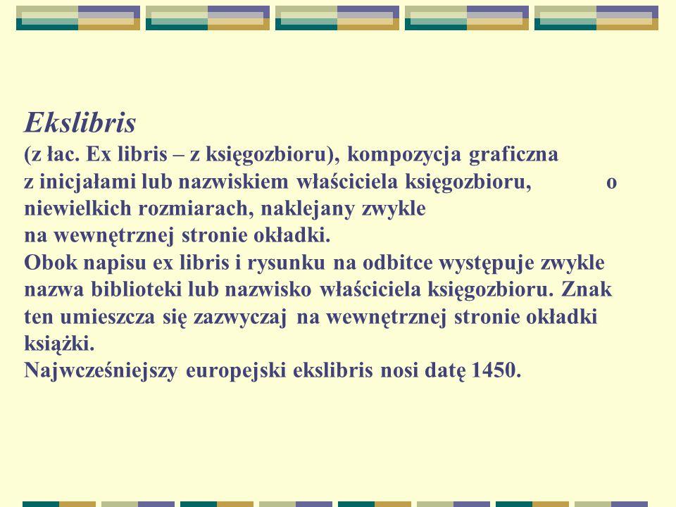 Ekslibris (z łac.
