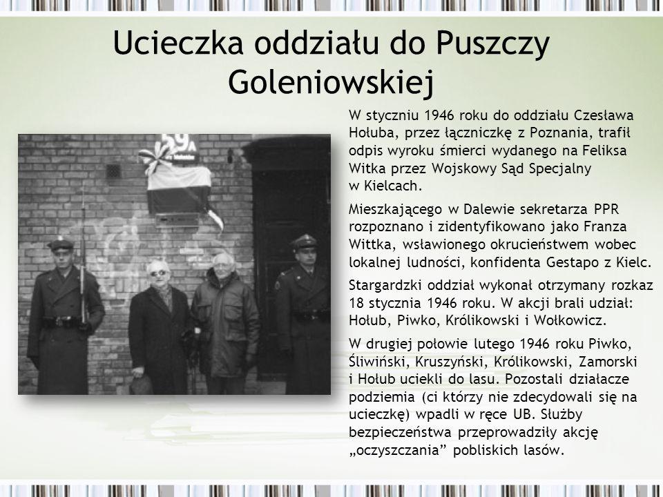 Ucieczka oddziału do Puszczy Goleniowskiej