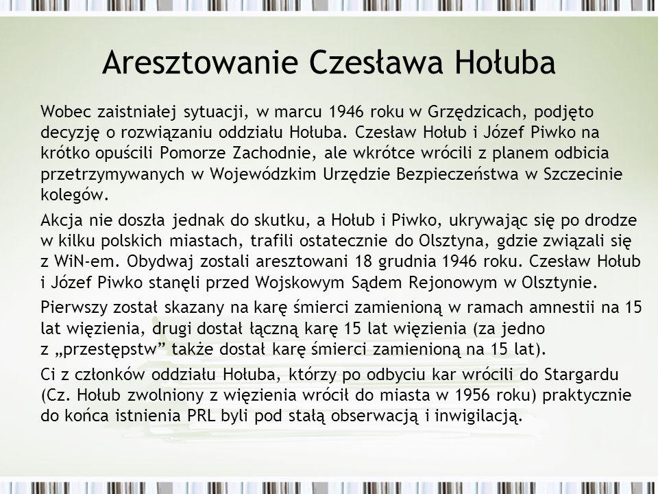 Aresztowanie Czesława Hołuba