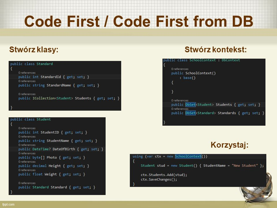 Code First / Code First from DB