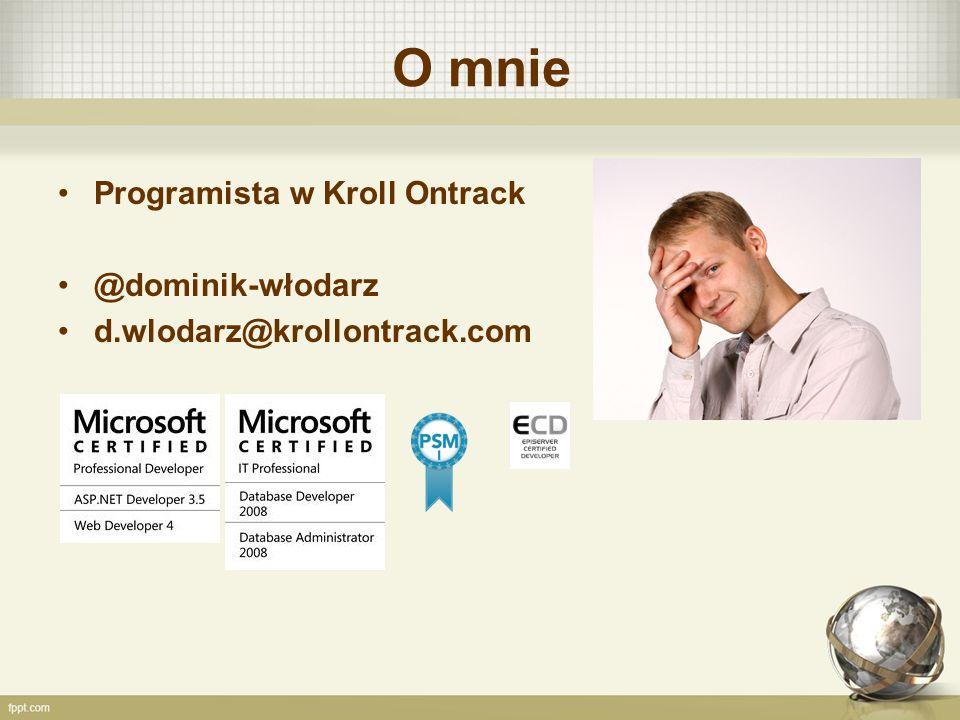 O mnie Programista w Kroll Ontrack @dominik-włodarz