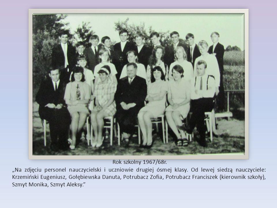 Rok szkolny 1967/68r.