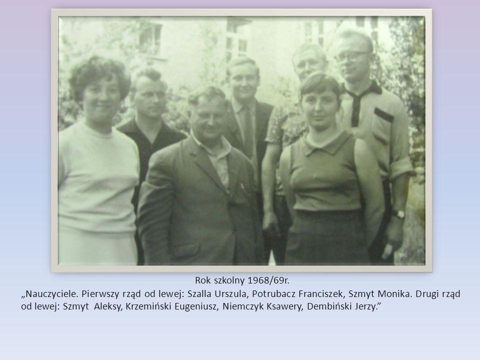 Rok szkolny 1968/69r.