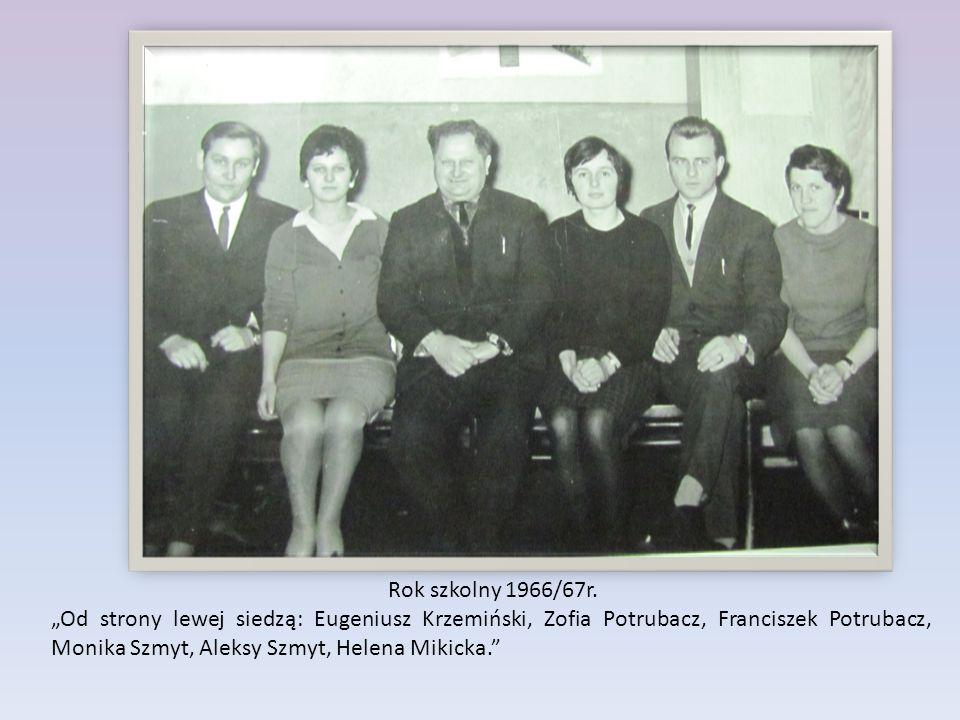 Rok szkolny 1966/67r.