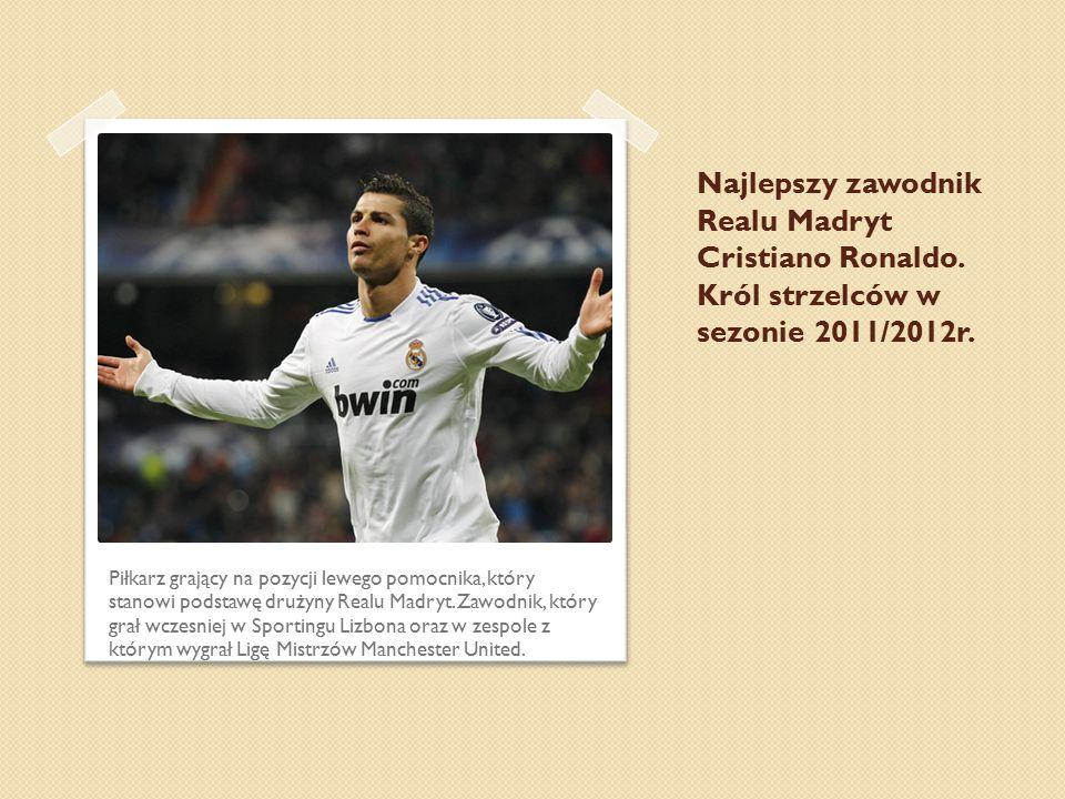 Najlepszy zawodnik Realu Madryt Cristiano Ronaldo