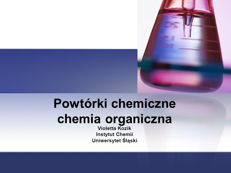 Powtórki chemiczne chemia organiczna