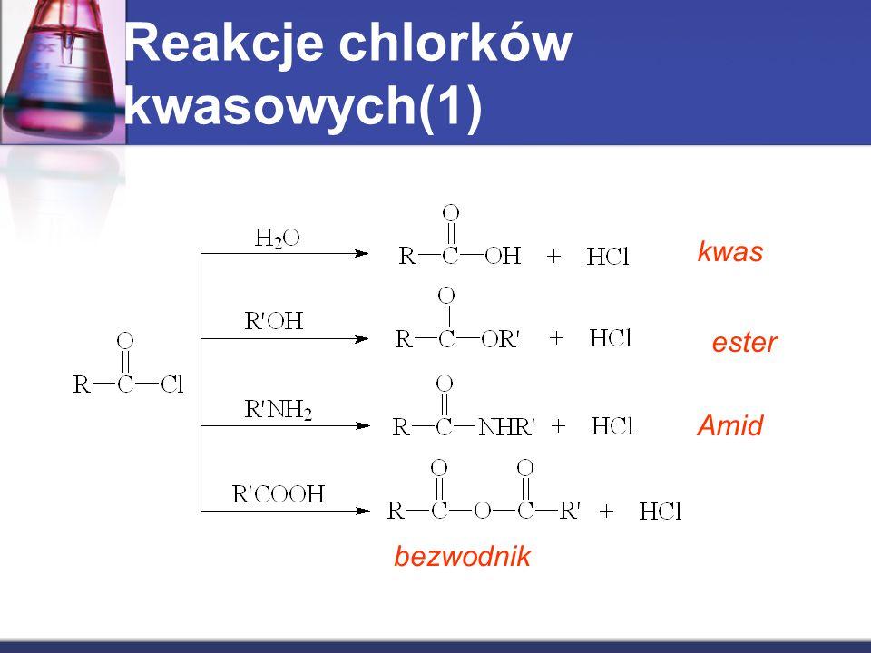 Reakcje chlorków kwasowych(1)