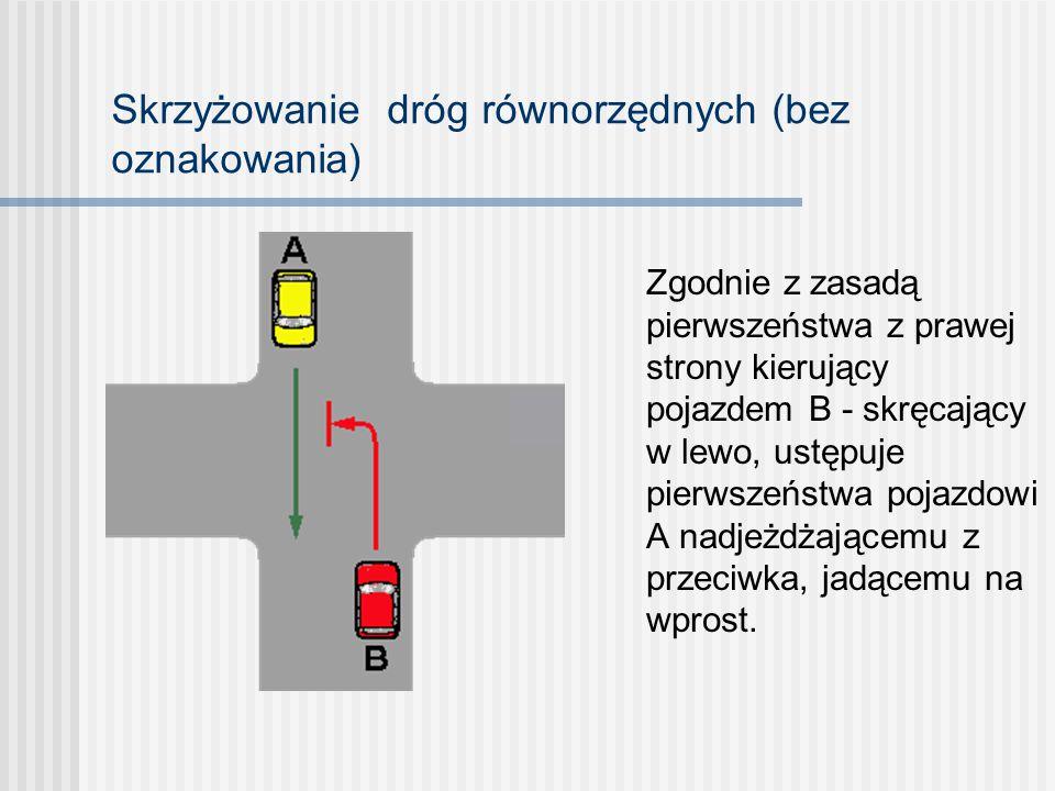 Skrzyżowanie dróg równorzędnych (bez oznakowania)
