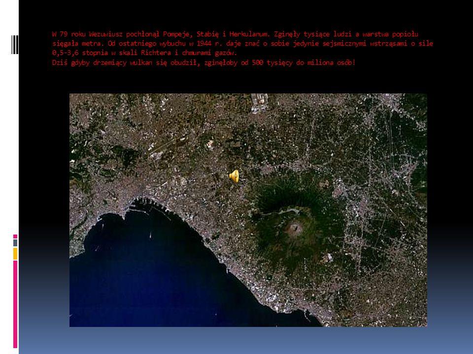 W 79 roku Wezuwiusz pochłonął Pompeje, Stabię i Herkulanum