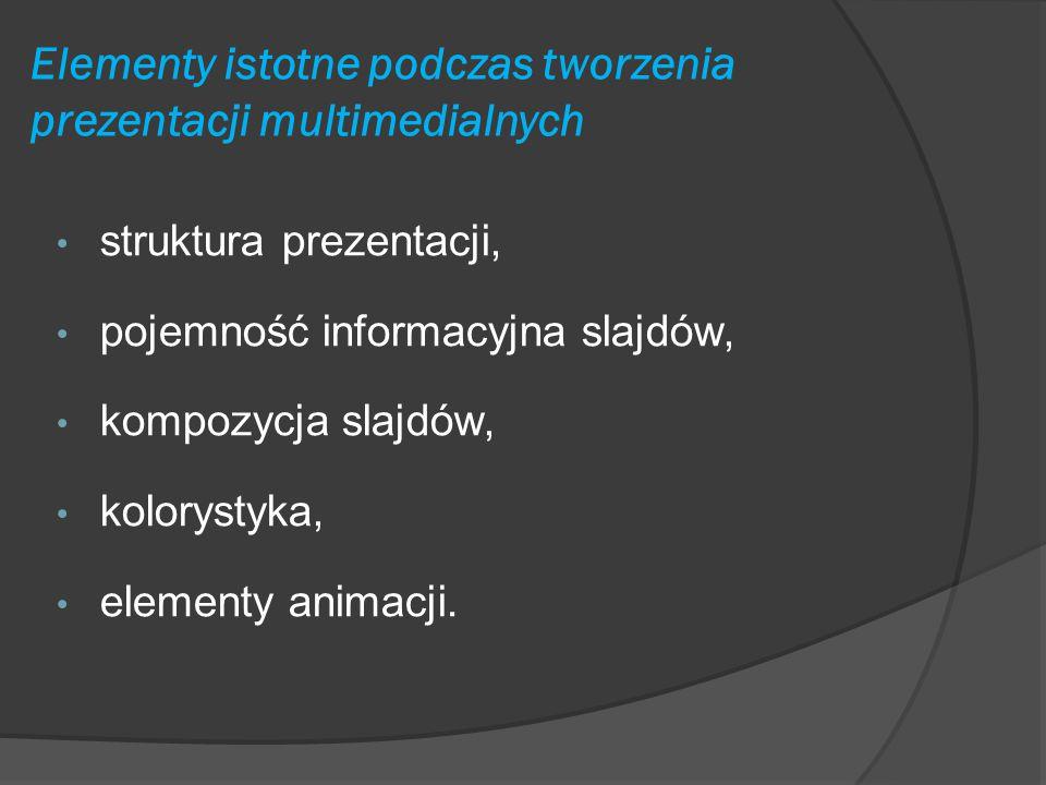Elementy istotne podczas tworzenia prezentacji multimedialnych