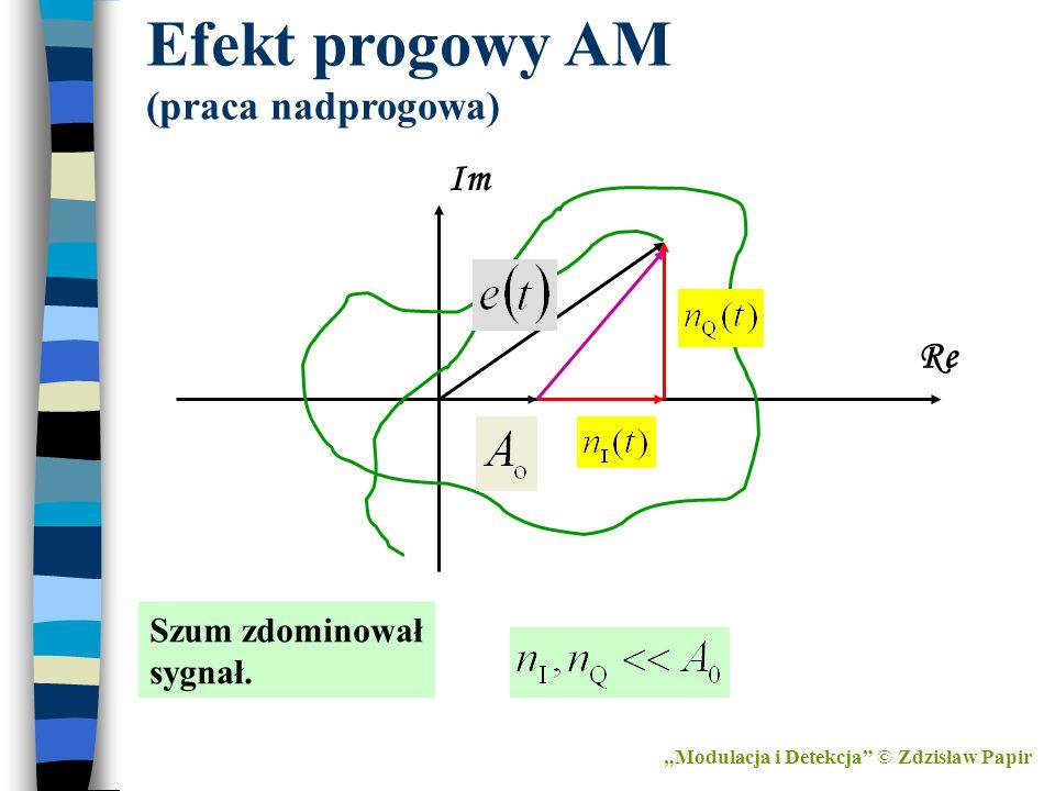 Efekt progowy AM (praca nadprogowa)