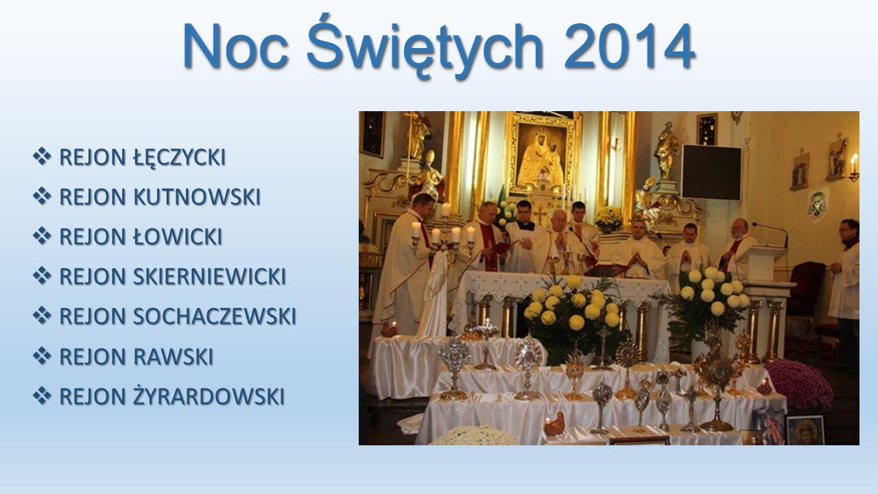 Noc Świętych 2014 REJON ŁĘCZYCKI REJON KUTNOWSKI REJON ŁOWICKI