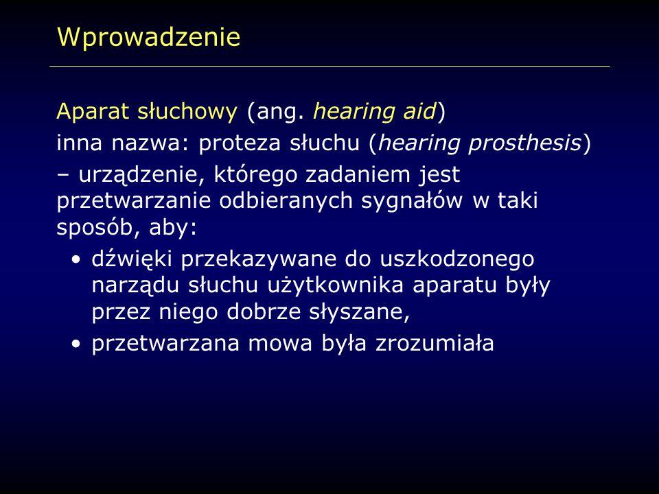 Wprowadzenie Aparat słuchowy (ang. hearing aid)