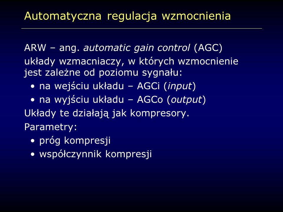 Automatyczna regulacja wzmocnienia