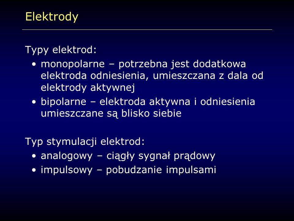 Elektrody Typy elektrod: