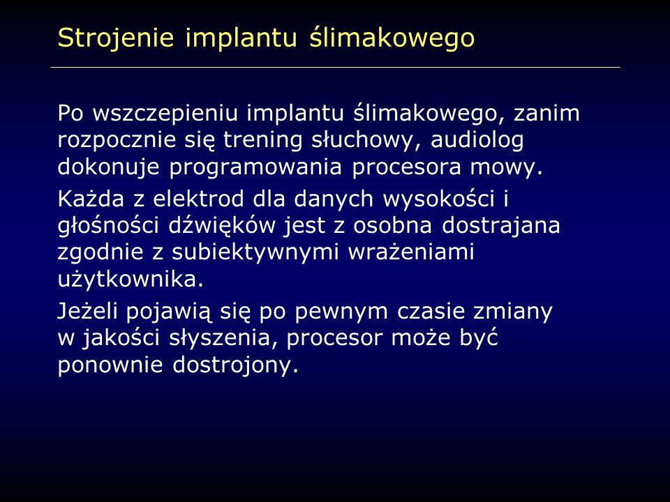 Strojenie implantu ślimakowego
