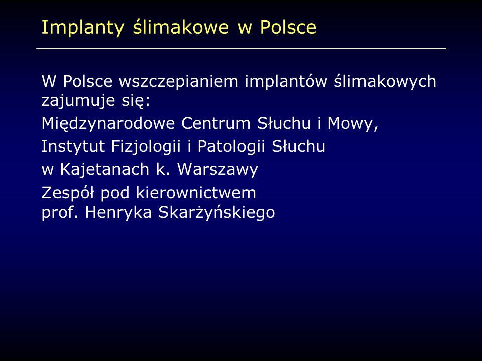 Implanty ślimakowe w Polsce