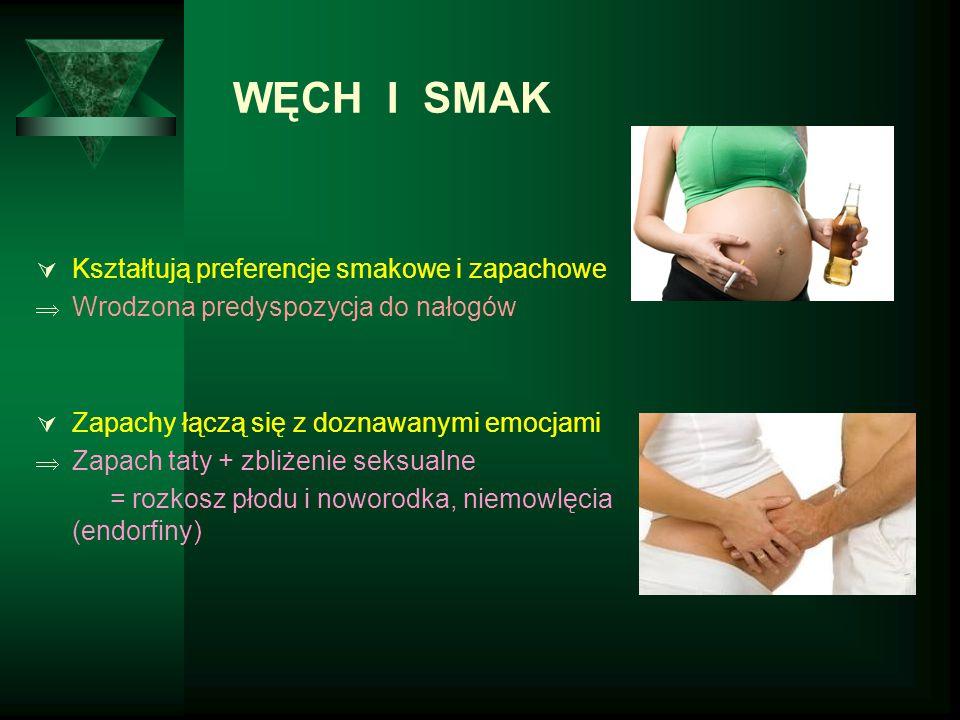 WĘCH I SMAK Kształtują preferencje smakowe i zapachowe
