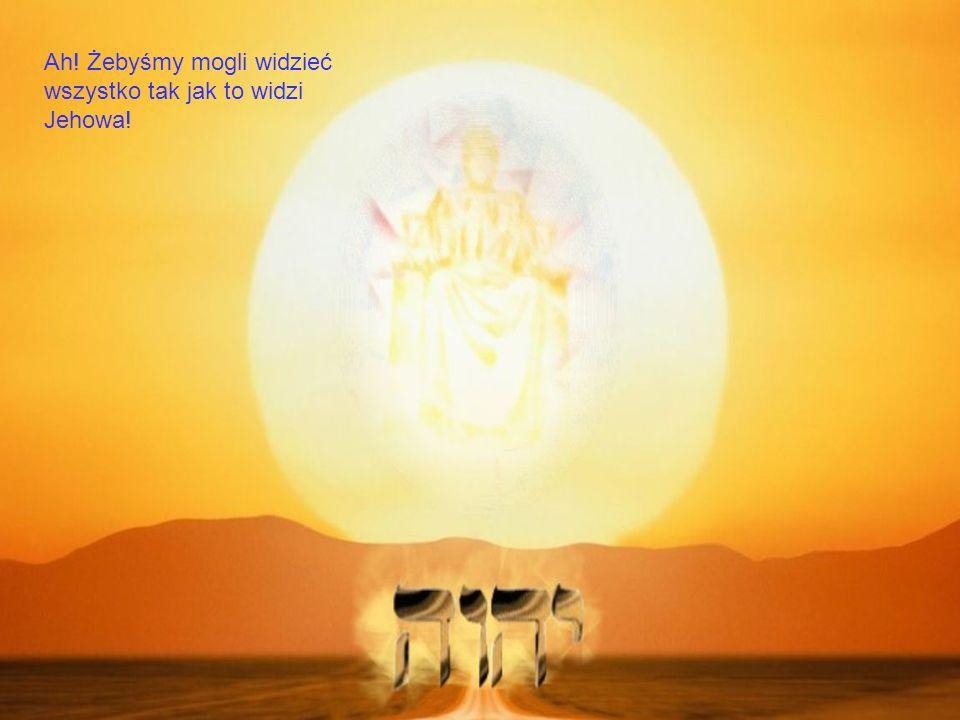 Ah! Żebyśmy mogli widzieć wszystko tak jak to widzi Jehowa!