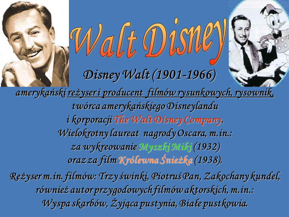 Walt Disney Disney Walt (1901-1966)
