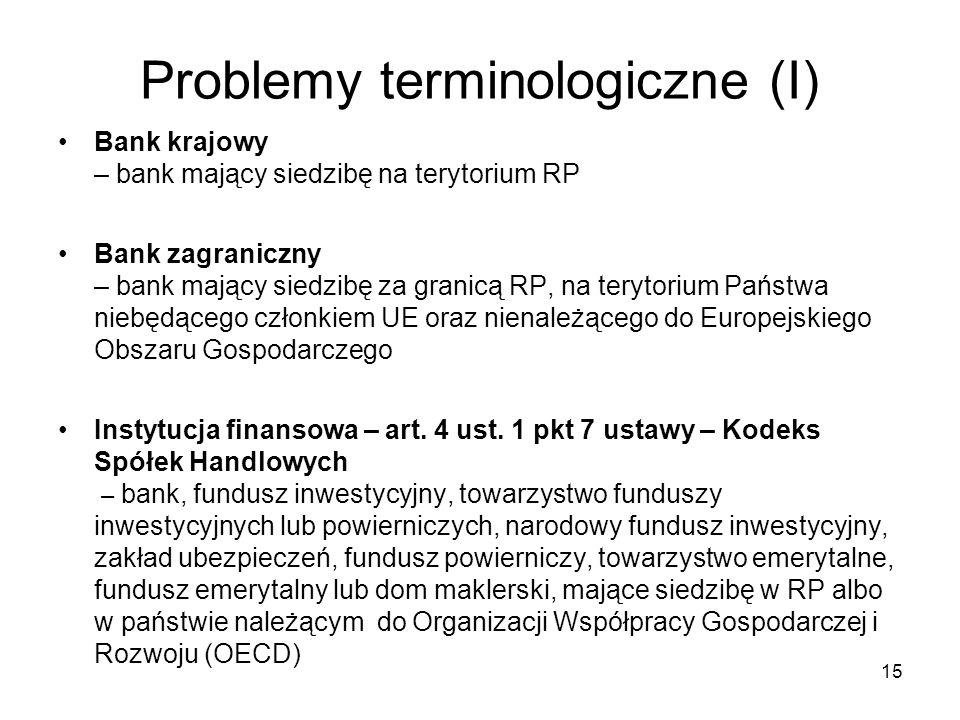Problemy terminologiczne (I)