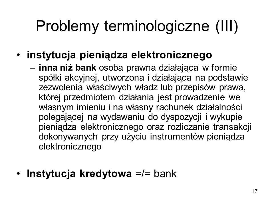 Problemy terminologiczne (III)