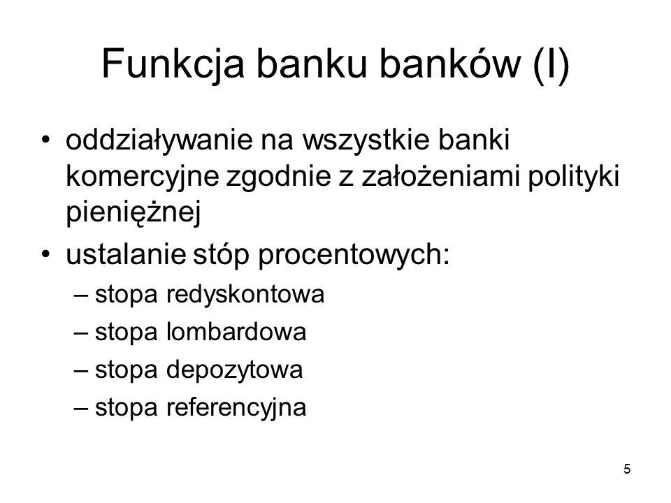 Funkcja banku banków (I)