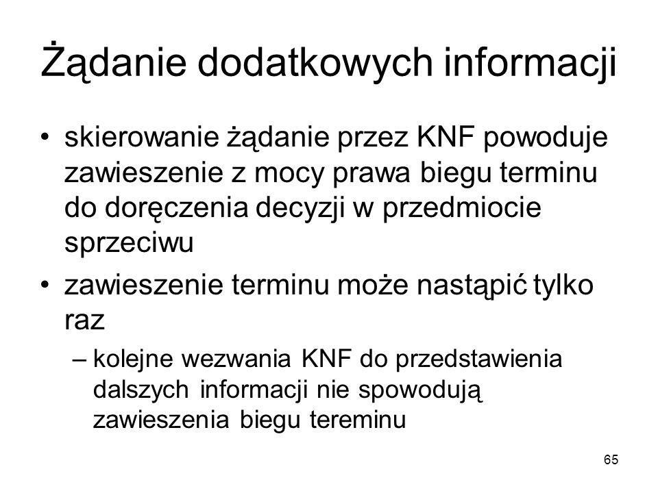 Żądanie dodatkowych informacji