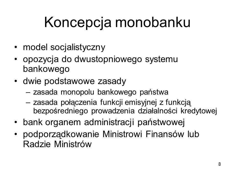 Koncepcja monobanku model socjalistyczny