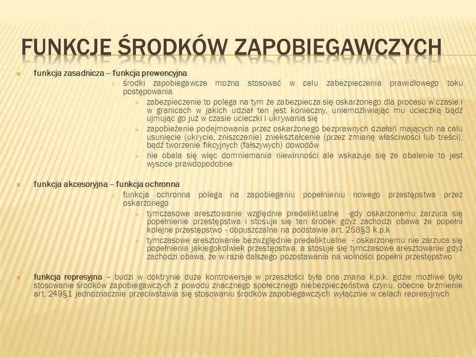 Funkcje środków zapobiegawczych