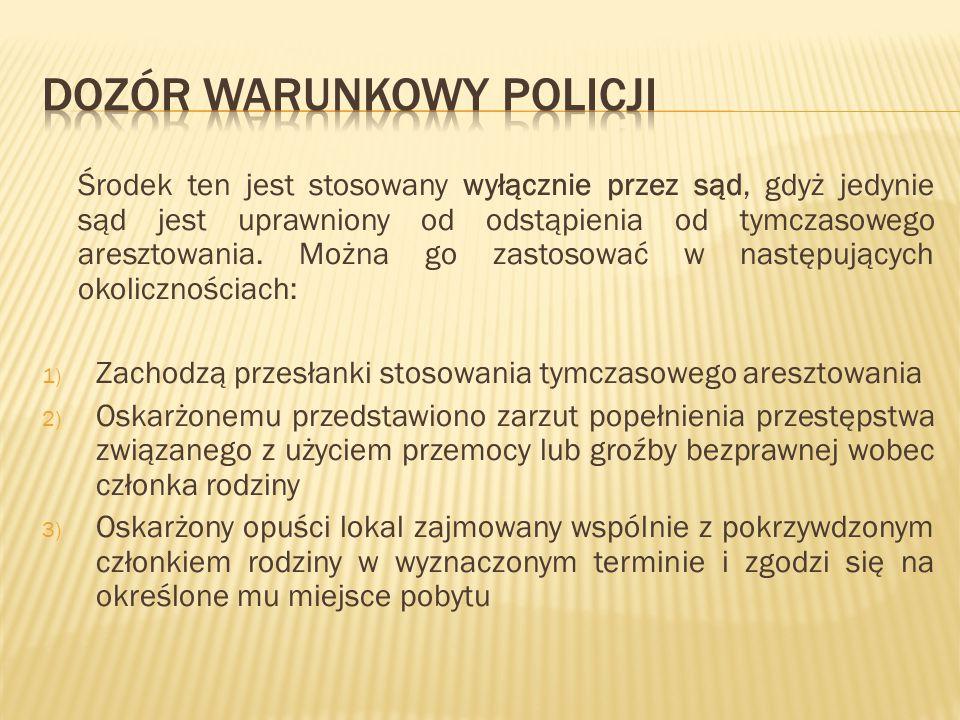 Dozór warunkowy policji