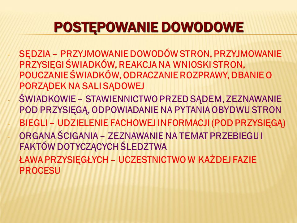 POSTĘPOWANIE DOWODOWE