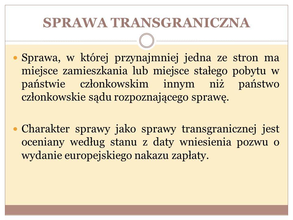SPRAWA TRANSGRANICZNA