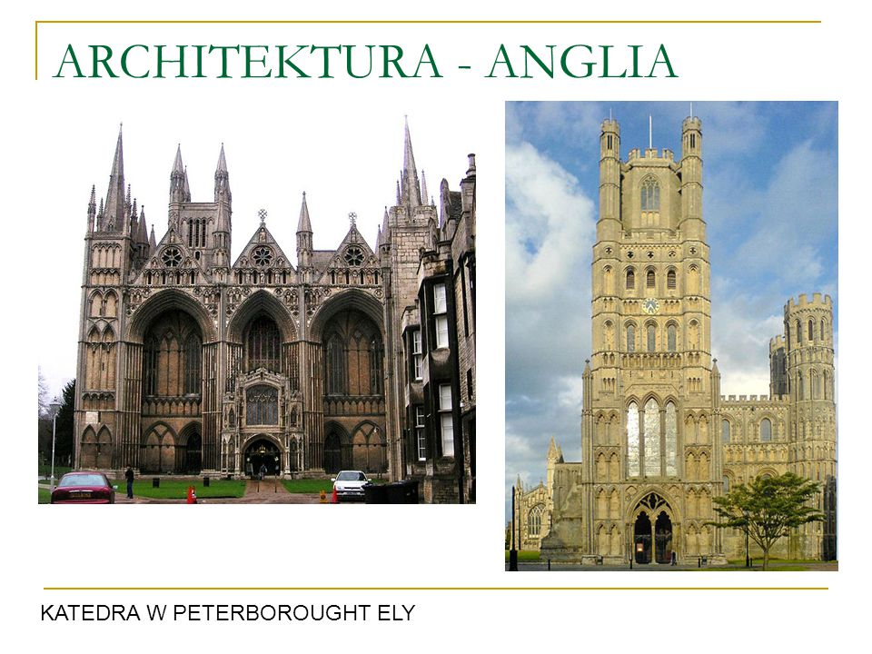 ARCHITEKTURA - ANGLIA KATEDRA W PETERBOROUGHT ELY