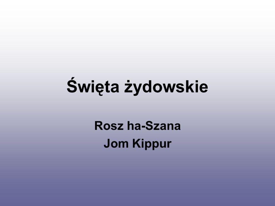 Rosz ha-Szana Jom Kippur