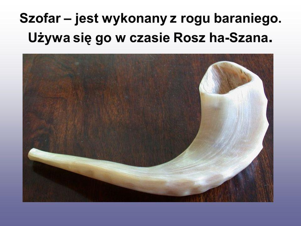 Szofar – jest wykonany z rogu baraniego