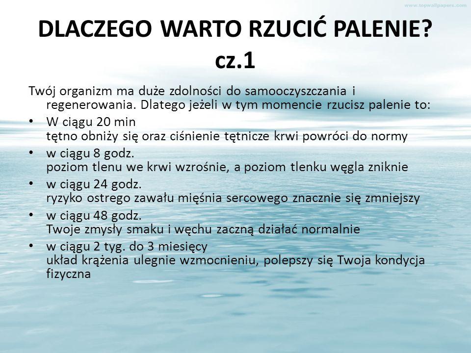 DLACZEGO WARTO RZUCIĆ PALENIE cz.1