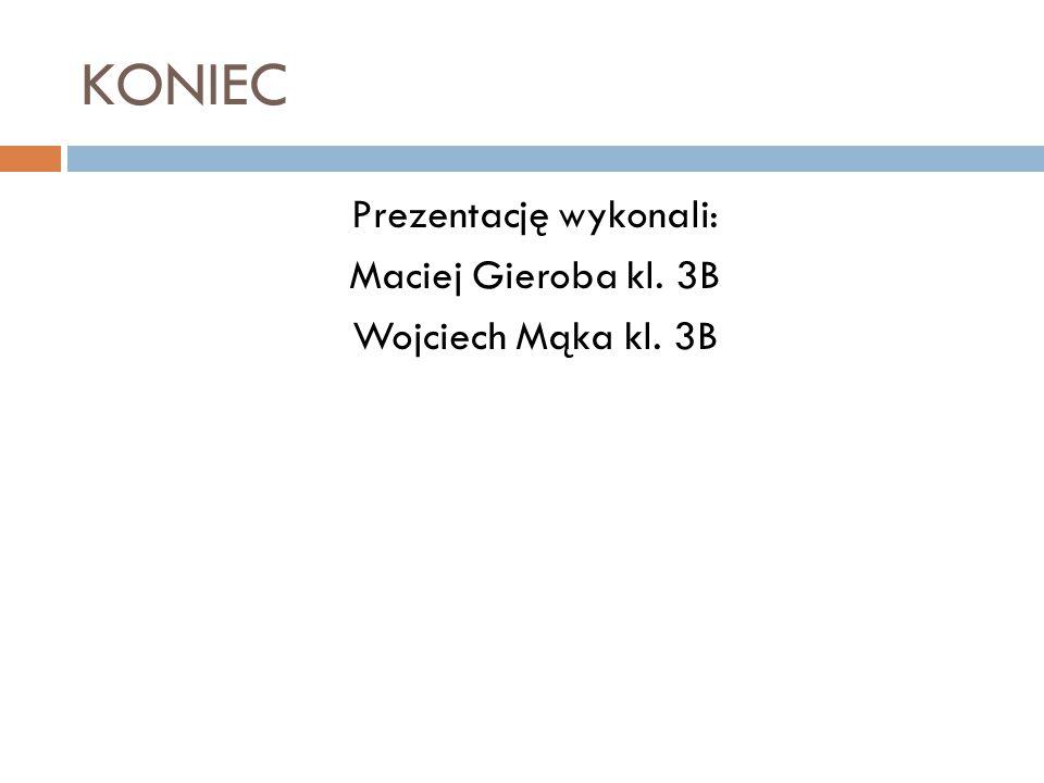 Prezentację wykonali: Maciej Gieroba kl. 3B Wojciech Mąka kl. 3B