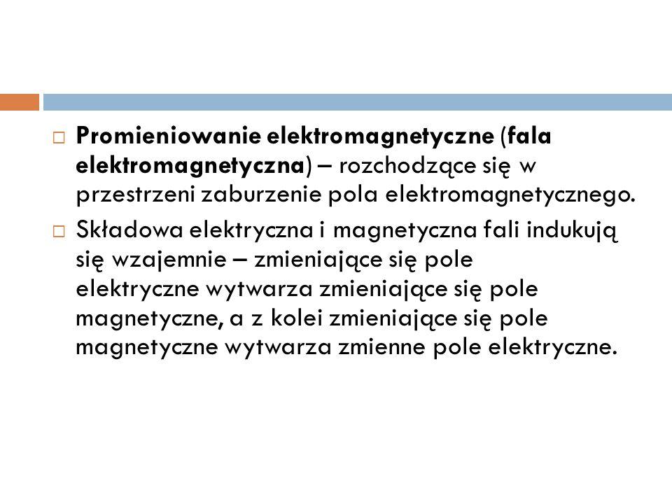 Promieniowanie elektromagnetyczne (fala elektromagnetyczna) – rozchodzące się w przestrzeni zaburzenie pola elektromagnetycznego.