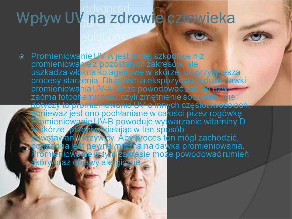 Wpływ UV na zdrowie człowieka