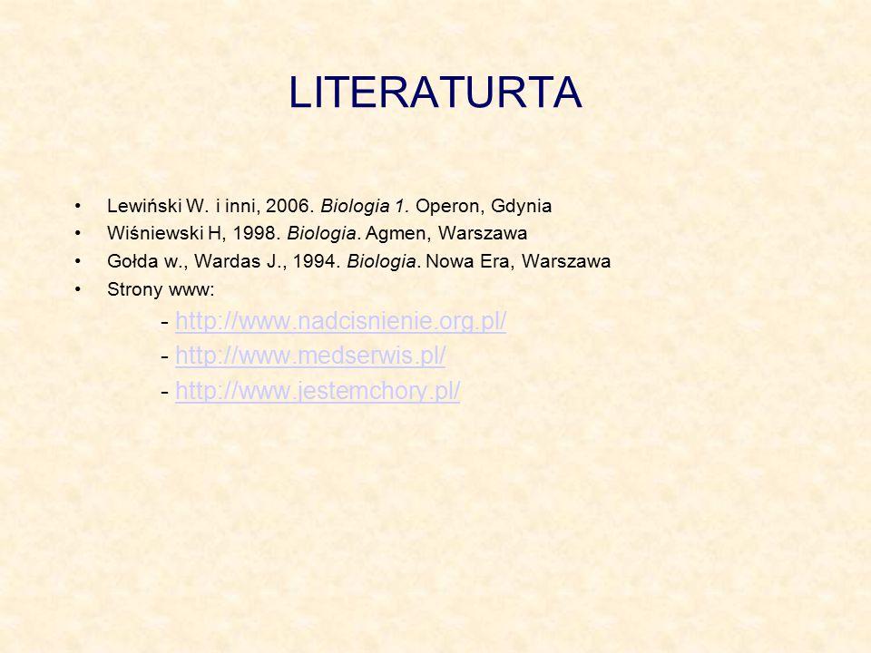 LITERATURTA - http://www.nadcisnienie.org.pl/