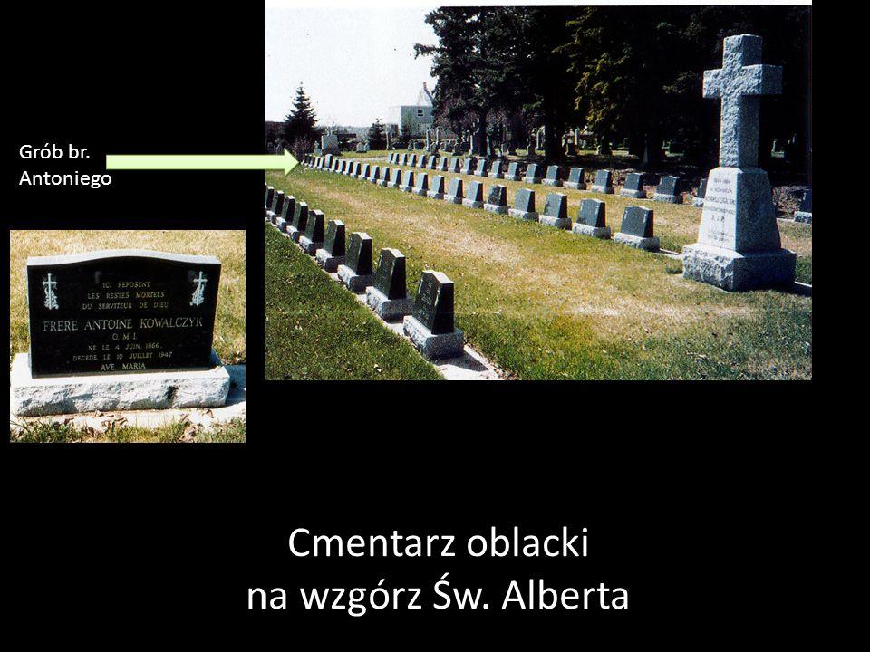 Grób br. Antoniego Cmentarz oblacki na wzgórz Św. Alberta