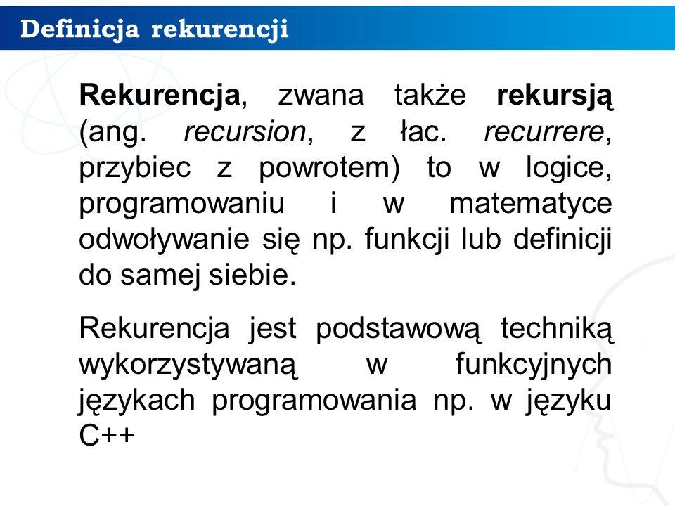 Definicja rekurencji