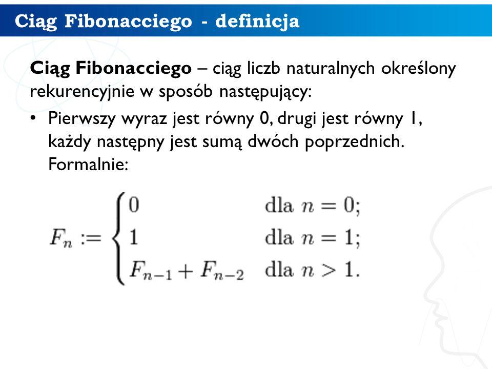 Ciąg Fibonacciego - definicja