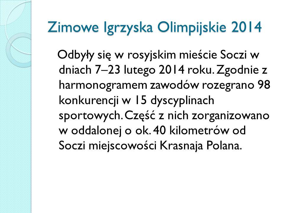 Zimowe Igrzyska Olimpijskie 2014