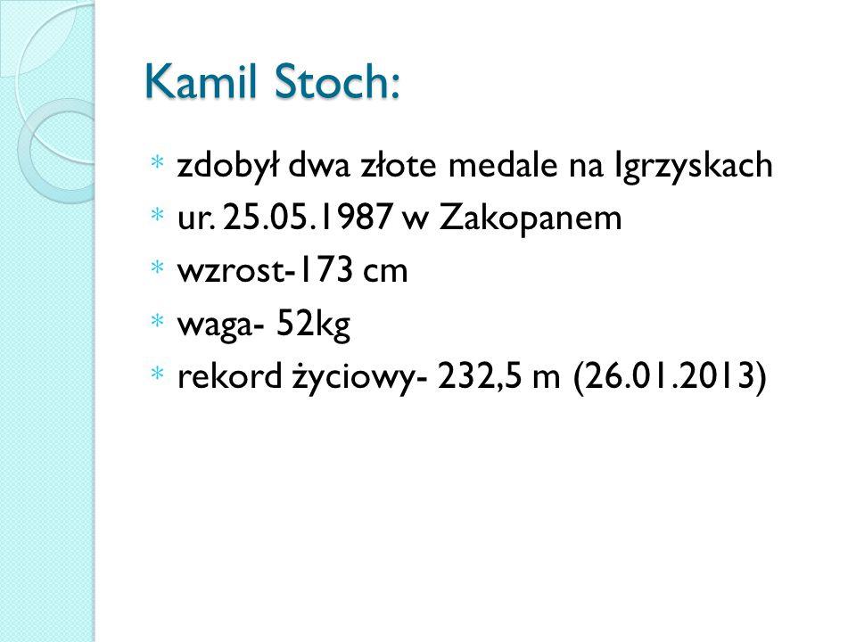 Kamil Stoch: zdobył dwa złote medale na Igrzyskach