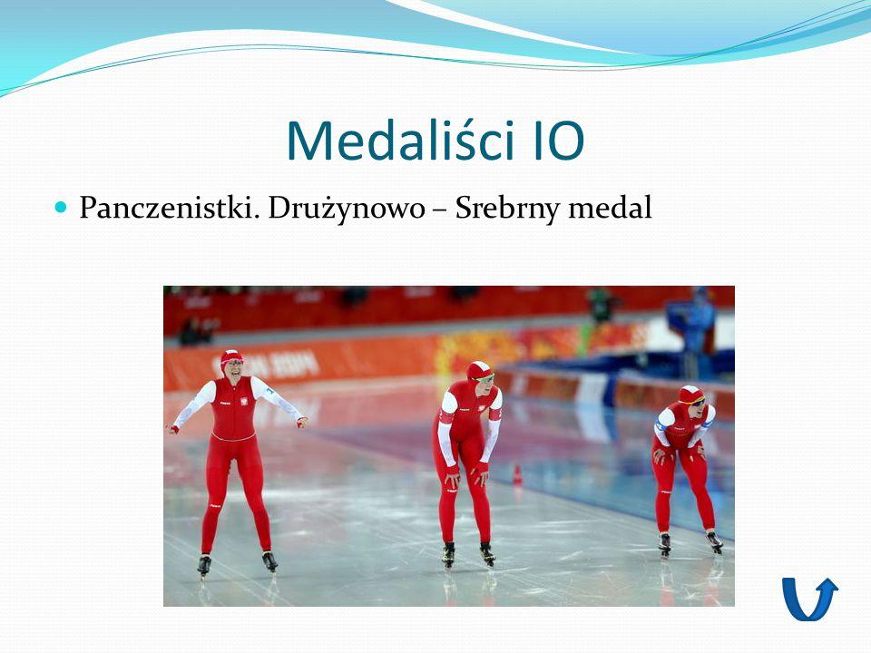 Medaliści IO Panczenistki. Drużynowo – Srebrny medal